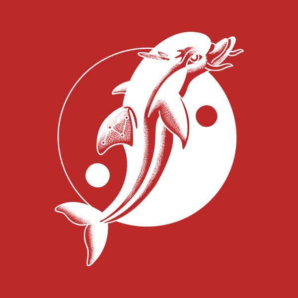 海豚剪纸剪法步骤